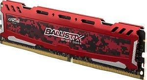 MEMORIA 8GB DDR4 2666MHZ BALLISTIX SPORT BLS8G4D26BFSEK VERMELHA CRUCIAL