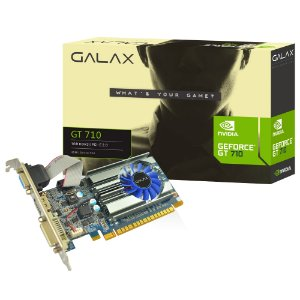 PLACA DE VIDEO 1 GB PCIEXP GT 710 71GGH4HXJ4FN 64BITS DDR3 GALAX