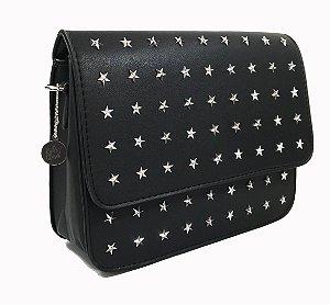 bolsa estrelada preta