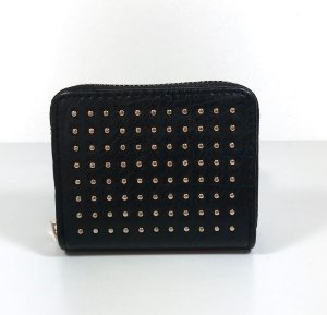 Mini Carteira black Dots