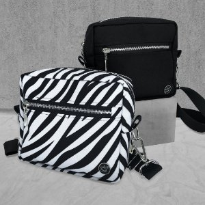 KIT - CROSS BAGS - BLACK & ZEBRA