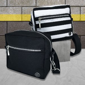 KIT - CROSS BAGS - BLACK & LISTRAS