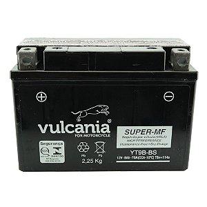 Bateria Vulcania YT9B-BS 8Ah YZF-R6 XT 660 X, Z Tenere MT-03