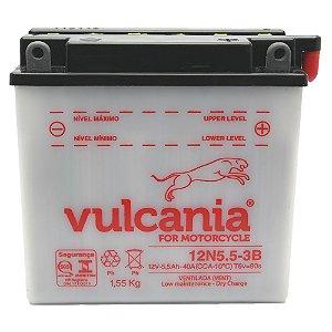 Bateria Vulcania 12N5.5-3B 5,5Ah YBR 125 RDZ 125 135 RD 350