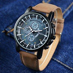 f9fbe67ff01 Kit Relógio Masculino Luxo Quartzo Pulso Yazole FRETE GRATIS