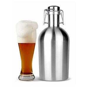 Growler Garrafão Inox 2 Litros Para Cerveja Artesanal.