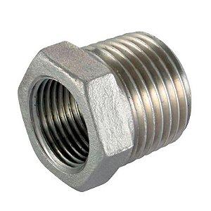 Conexão Aço Inox 304 Redução Fêmea Bsp Ø 1/2 X Macho 3/4.
