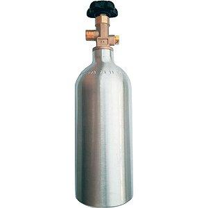 Cilindro Co2 Alumínio 1,1 Kg Extração Carbonatação Cerveja.