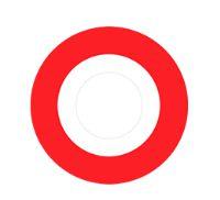 Lente de contato BRANCA com borda VERMELHA - red rim
