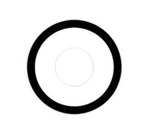 Lente de contato BRANCA com borda MANSON - white