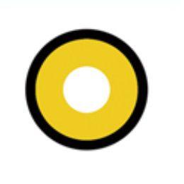 Lente de contato AMARELA com borda MANSON - yellow