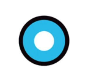 Lente de contato AZUL com borda MANSON - blue