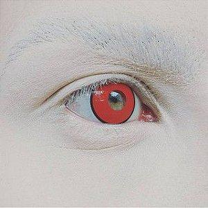 Lente de contato VERMELHA com borda MANSON - red A20