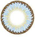 LENTE DE CONTATO AZUL 3 TONES ELVES - DODO circle lens blue