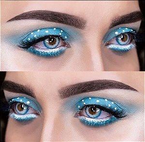 -SEM GRAU- LENTES DE CONTATO PRO  AZUL - pro blue