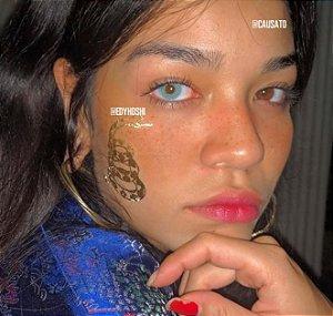 -SEM GRAU- Lente de contato BTS BRIGHT BLUE- AZUL INTENSO  - BTS BRIGHT BLUE