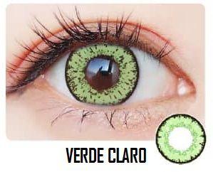 -SEM GRAU- LENTES ARTÍSTICAS ESPECIAIS - STAR VERDE CLARO