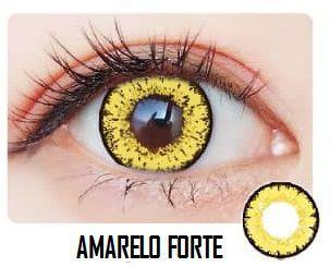-SEM GRAU- LENTES ARTÍSTICAS ESPECIAIS - STAR AMARELO FORTE