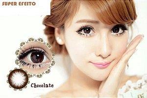 -SEM GRAU- Lente de contato CHOCOLATE EFEITO GRANDE - Circle lens H2 COFEE