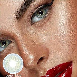 - SEM GRAU - NOVIDADE !! LENTES NATURAIS QUEEN AZUL - QUEEN BLUE efeito de pupila reduzida
