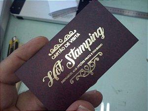 Kit  com 10 receituários + 1.000 Cartões de Visita laminado Hot Stamping