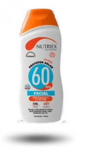 Protetor Solar FPS 60 1/3 UVA Facial 120ml Nutriex