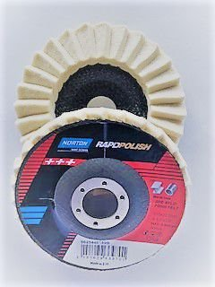DISCO DE FELTRO FLAP DISC RapidPolish 115mm x 22mm Polimento em Inox NORTON EUA 66254481899