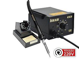 ESTAÇAO SOLDA ANALOGICA 200A480ºC 220V CONSUMO 60W TENSAO SAIDA 24V HK-936A HIKARI