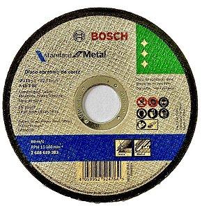 DISCO DE CORTE 115 X 1.0 X 22,23  INOX - AÇO  BOSCH  CX 100 PÇS A60T BF