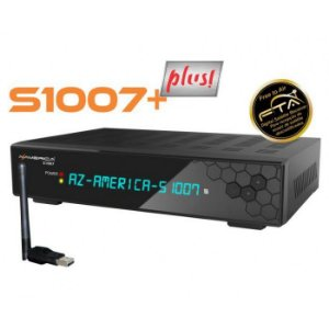 AZAMERICA s1007+ PLUS - IKS / SKS / CS / WI-FI / ONDEMAND - (ACM)