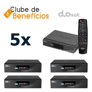 DUOSAT WAVE HD - 5 PEÇAS - DESCONTO (ATACADO)
