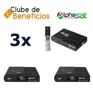 ALPHASAT TX - 3 PEÇAS - DESCONTO (ATACADO)