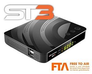 Azamerica ST3 Ultra HD com IKS/SKS/ISDB-T/4K/VOD (ACM)