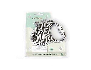 Guia retrátil zebrinha