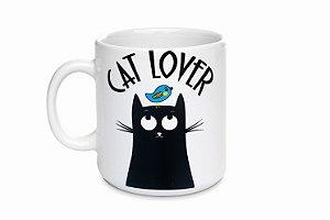 Caneca branca Cat Lover 270ml