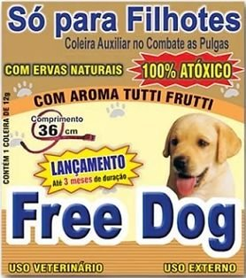 Coleira anti-pulgas Free Dog Filhotes