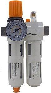 Filtro Regulador e Lubrificador de Ar com Dreno Automático 16 Bar - TA