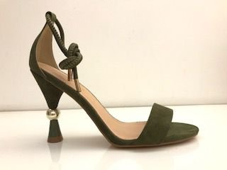 SANDALIA QUEEN SHOES NOBUCK OLIVA