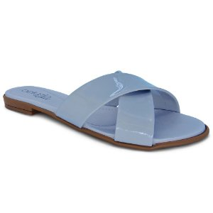 0d37acd3d2 Rasteira Beira Rio Tiras Cruzadas Verniz – Jeans – Calce