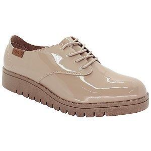 a47014ef1f Sapato Oxford Beira Rio Verniz – Bege - Calce Bella