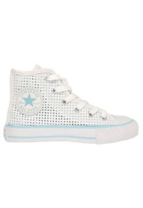 TÊNIS INFANTIL CONVERSE ALL STAR CT AS HI BRANCO/AZUL