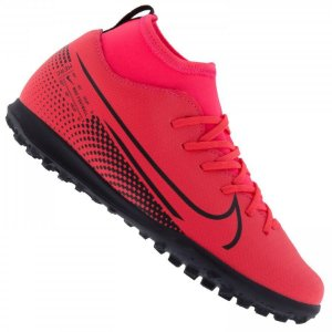 CHUTEIRA NIKE INFANTIL JR. SUPERFLY SOCIETY VERMELHA AT8156-606