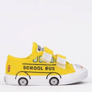 TÊNIS ALL STAR INFANTIL VELCRO BUS SCHOOL AMARELO CK08690001