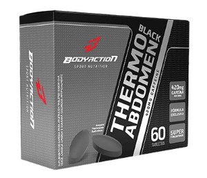 Termogênico Thermo Abdomen Black Blister 60 Comp. - Bodyaction