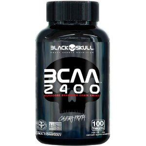 Bcaa 2400mg 100 Caps - Black Skull