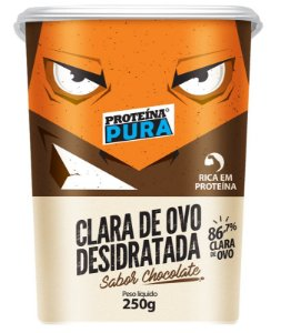 Clara de Ovo Desidratada Chocolate Albumina 250g - Proteína Pura