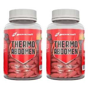 Kit 2 Termogênicos Thermo Abdomen 120 Tabs.  - Bodyaction