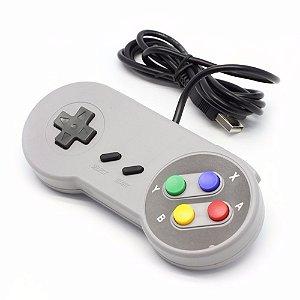 Joystick USB Retrô Super Nintendo - Botoes Coloridos