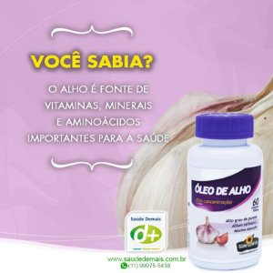 Óleo de Alho 700 mg - 60 Caps