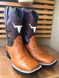 0ded6774c9c80 bota texana country masculina cano médio bordado penacho   diversos modelos bico  quadrado solado em borracha
